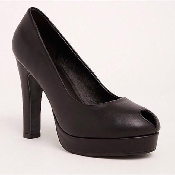 Torrid Peep Toe Platform Heels
